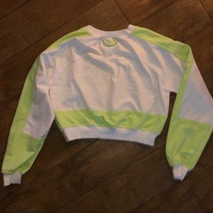 Urban Outfitters Tops - Urban outfitters neon green crop sweatshirt